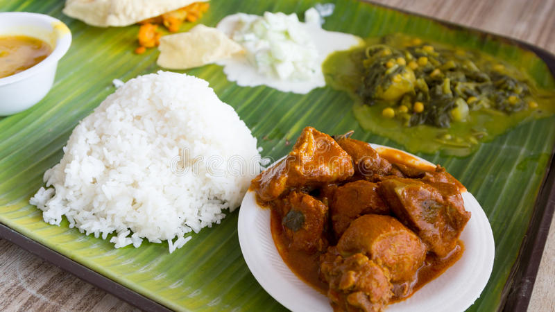 Typical Indian meal stock photos
