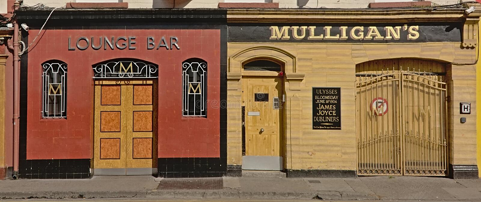 Typical Irish pub and bar in Dublin royalty free stock photography
