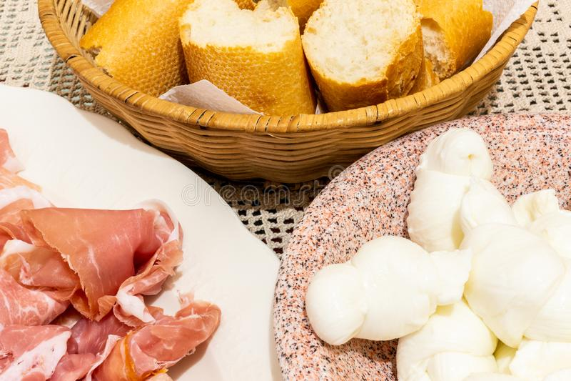 Typical italian appetizer stock photo