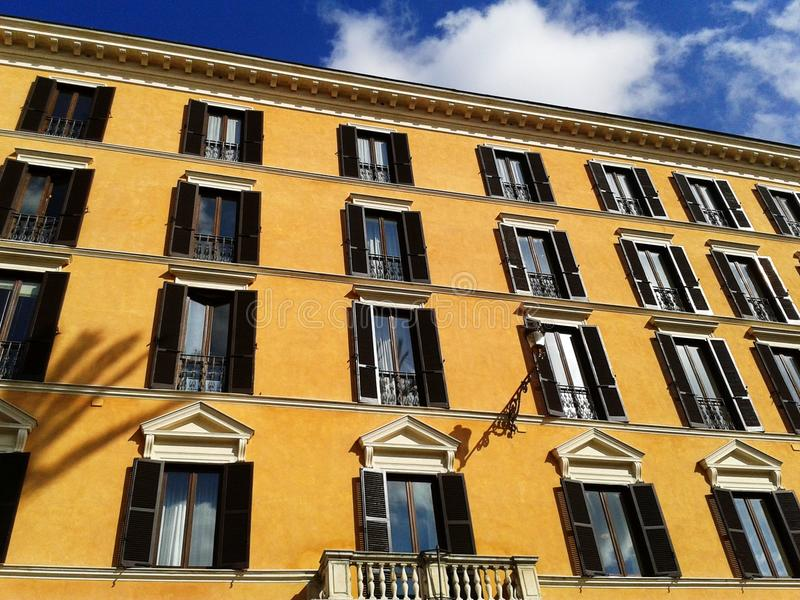 Typical italian building facade stock images