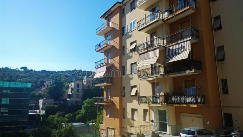 A typical Italian multi-storey building royalty free stock photography