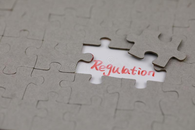 A typical jigsaw puzzle with regulation royalty free stock image