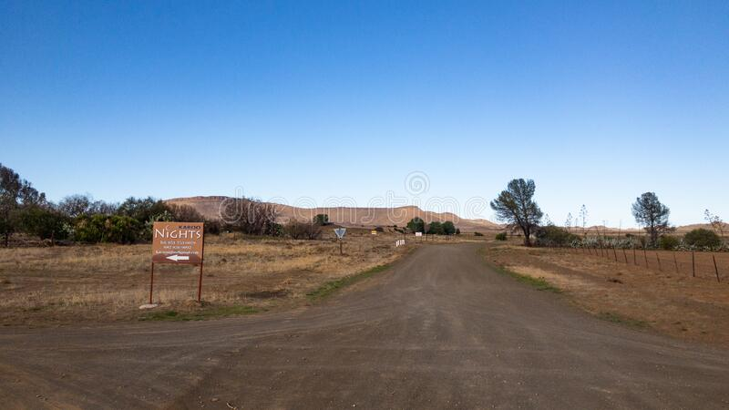 Typical Karoo roads in the farming areas royalty free stock photography