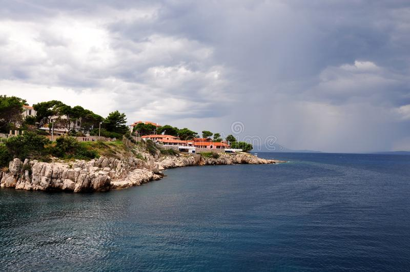 Typical Landscape coastline on Losinj and Cres islands stock photo