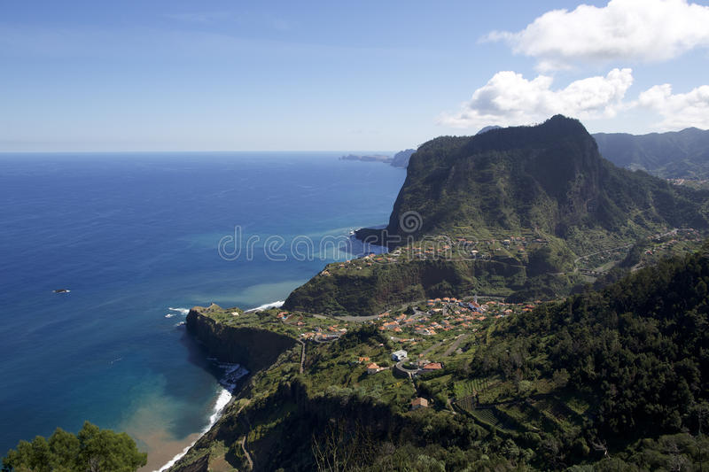 Typical landscape of the island of Madeira stock image