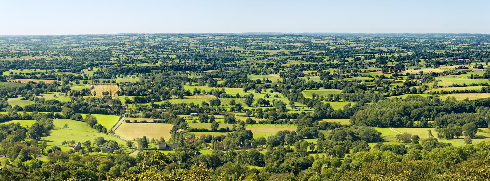 Typical Landscape In Normandy, France Stock Photos