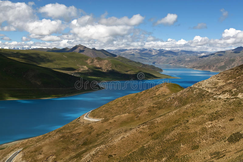 Typical landscape of Tibet stock photos
