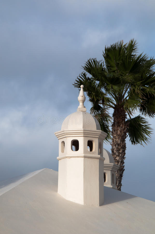 Download Typical Lanzarote Chimneys stock image. Image of atlantic - 21871763