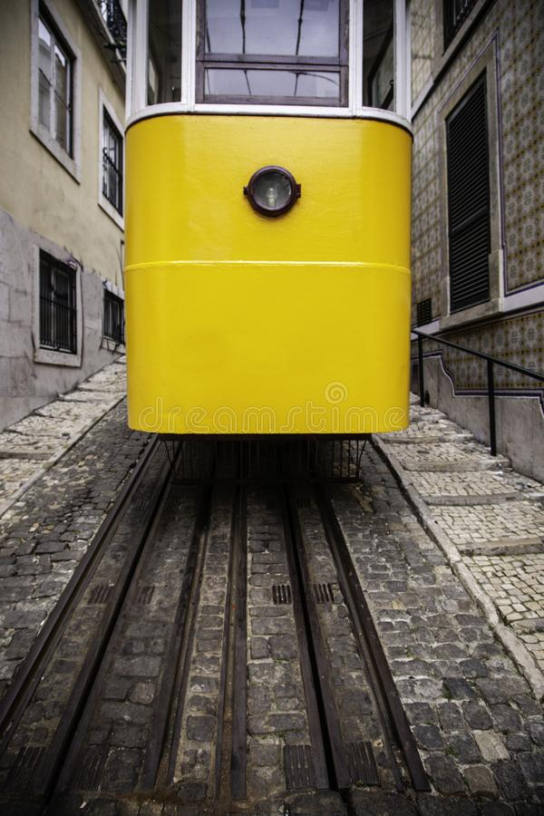 Typical Lisbon tram stock images