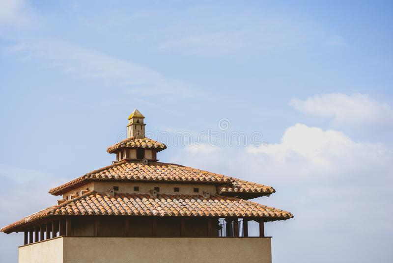 Typical loft in rural area. Typical dovecote in rural area in the park of Villafáfila of the province of Zamora royalty free stock images