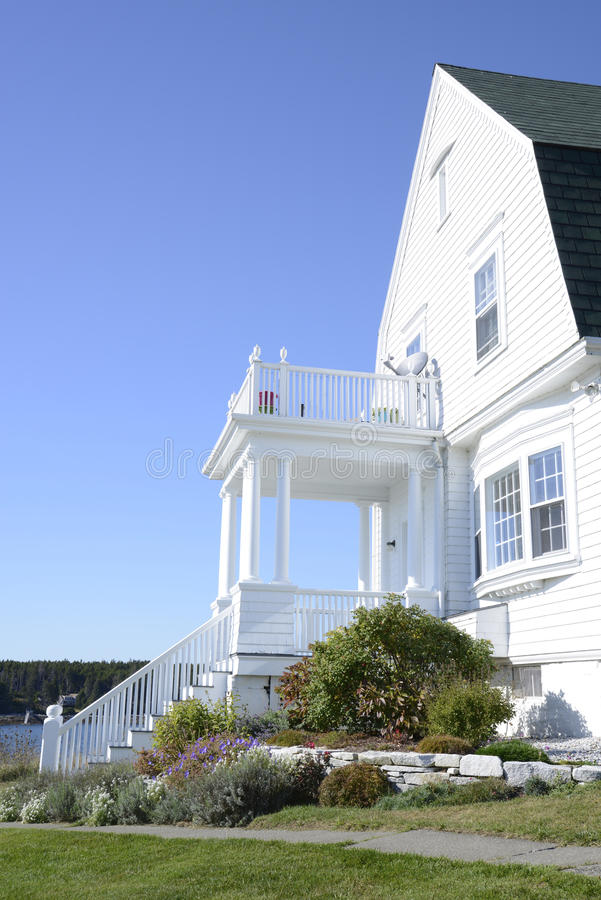Typical Maine coastal home royalty free stock photography