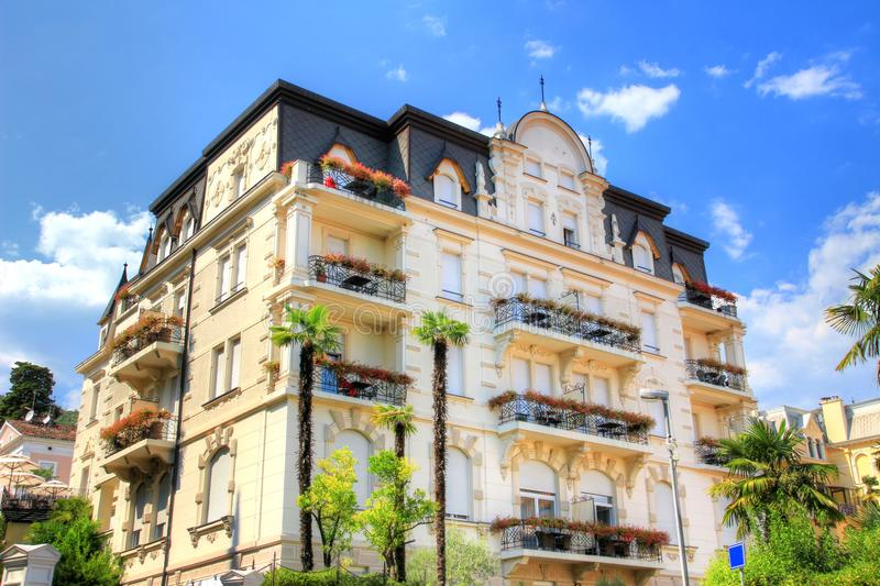 Typical mansion of former Austrian Riviera now Opatija Croatia stock images