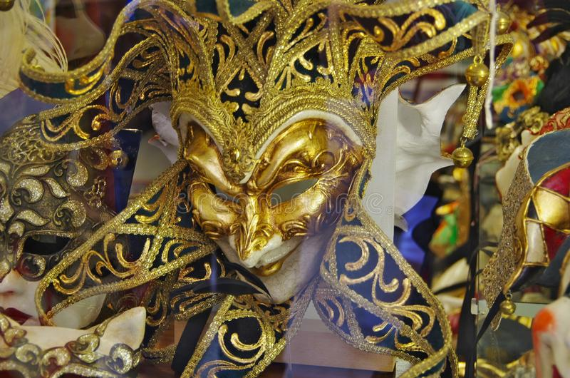Typical masks of the Venice carnival stock photography