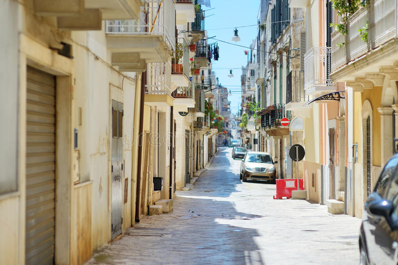 Typical medieval narrow street in beautiful town of Conversano royalty free stock image