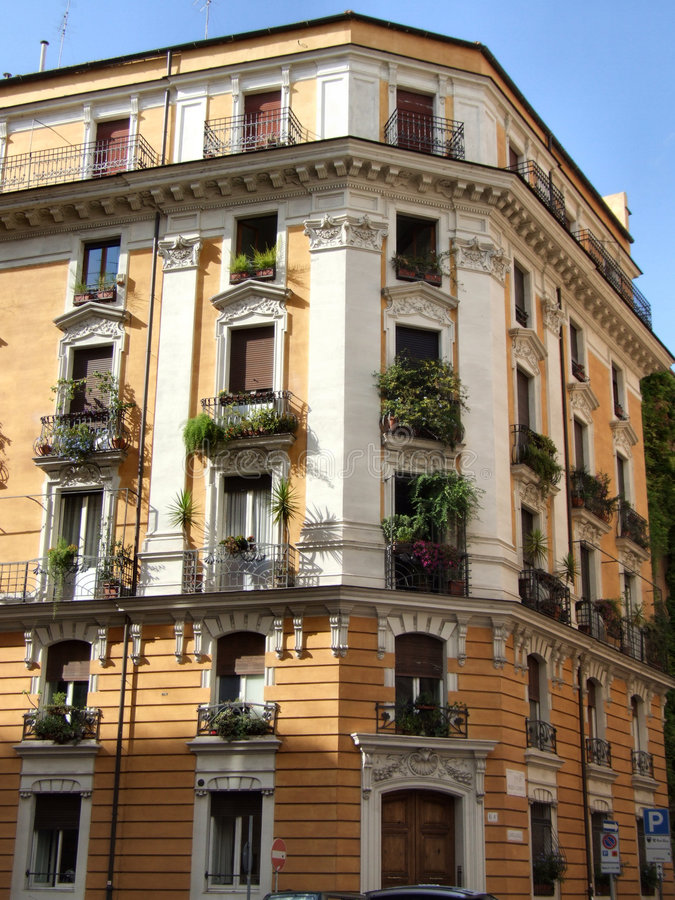 Typical Mediterranean building in Rome royalty free stock photography