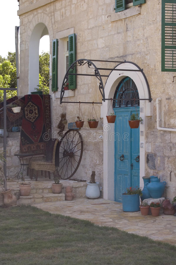 The typical mediterranean house royalty free stock photo