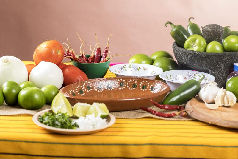 Typical Mexican cuisine stock image