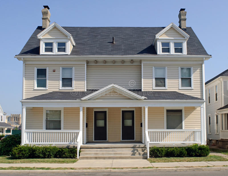 Typical midwest duplex house stock image image of for Midwest house plans