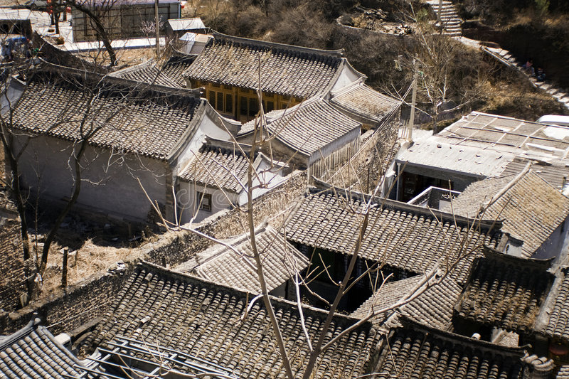 Typical Ming dynasty courtyard houses. A Ming dynasty village outside Beijing royalty free stock photos