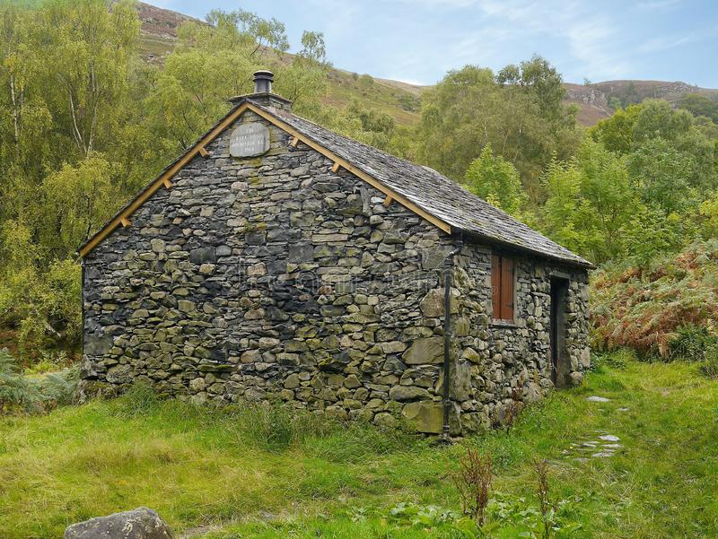 Old mountain hut near Ashness Bridge, Lake District stock images
