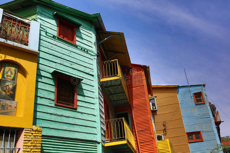 Typical neighbourhood in buenos aires royalty free stock photo