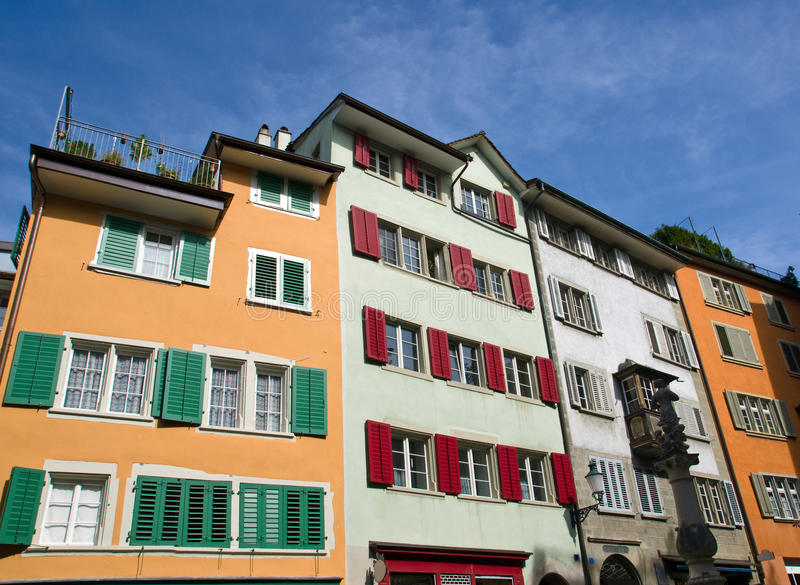 Download Typical Old Houses In Zurich Stock Photo - Image: 25299374