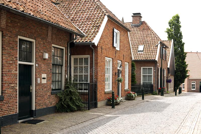 Typical old square of old Dutch times gone by stock image
