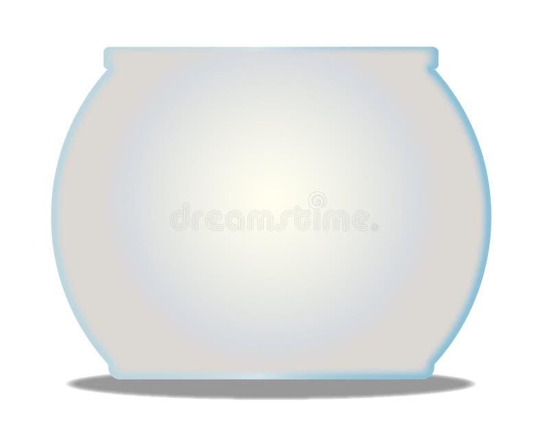 Empty Goldfish Bowl On A White Background. A typical pet goldfish bowl over a white background vector illustration