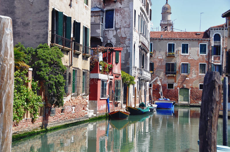 Download Typical Photo Of Venice City Stock Image - Image of bridge, boat: 24809407