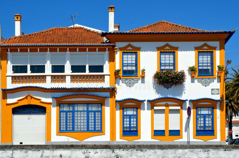 Typical portuguese house in Aveiro. Portugal stock images
