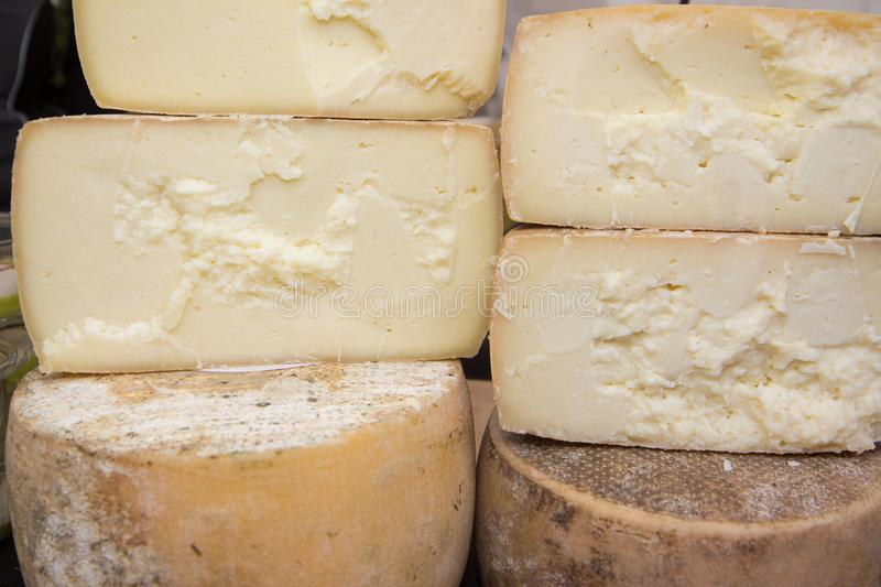 Pecorine cheese typical products of Emilia Romagna. Modena italia stock photo
