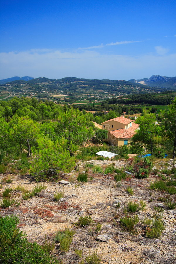 Typical provencal house stock photo