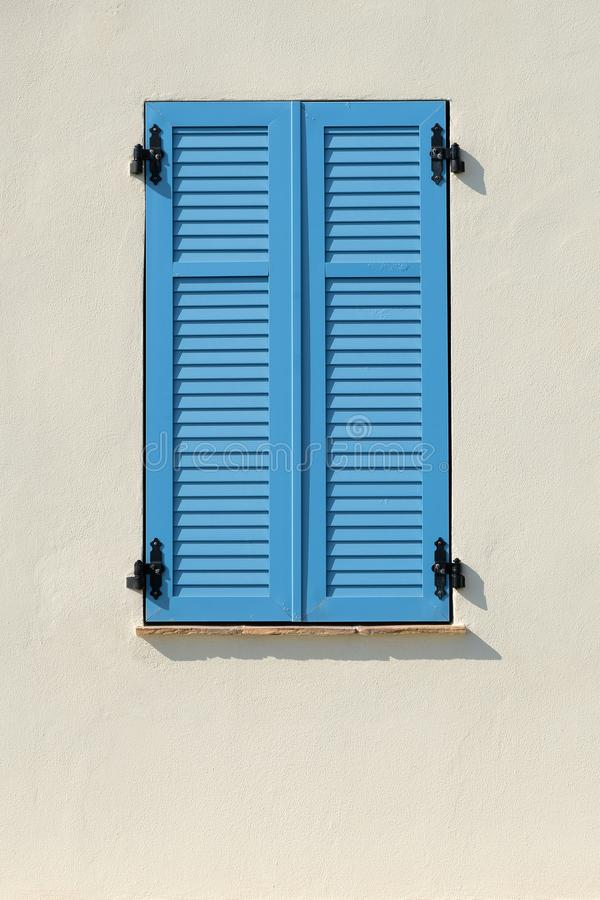 French window in Provence. Typical provencal window in South France royalty free stock photography
