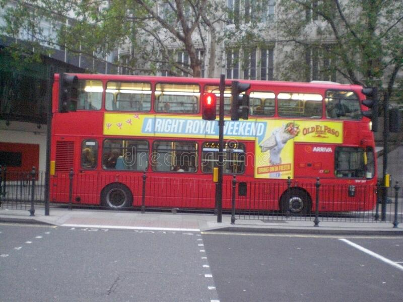 Typical red double decker bus London England Europe stock photos