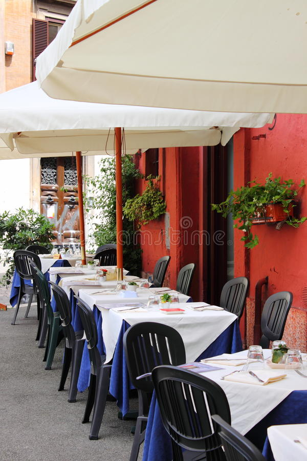 Typical Restaurant In Rome Stock Photos