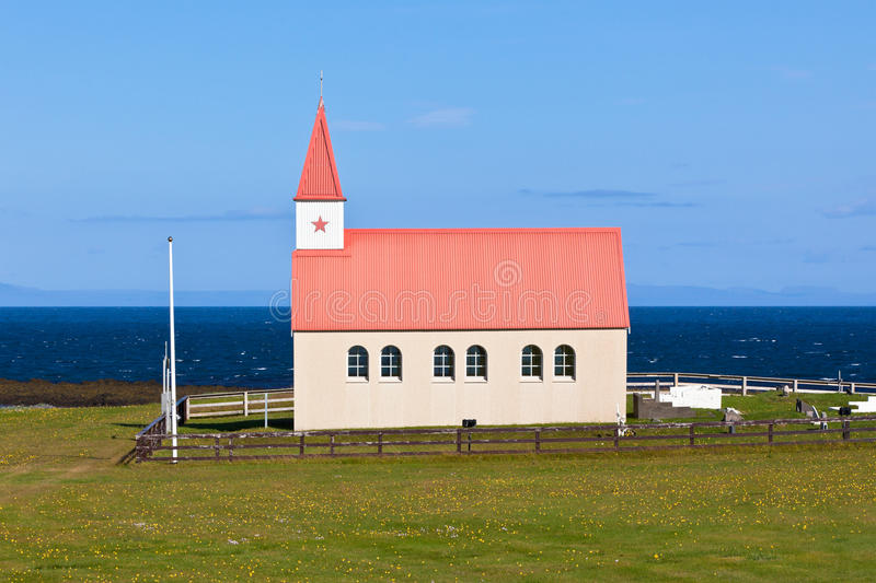 Download Typical Rural Icelandic Church At Sea Coastline Stock Image - Image of light, coast: 32016043