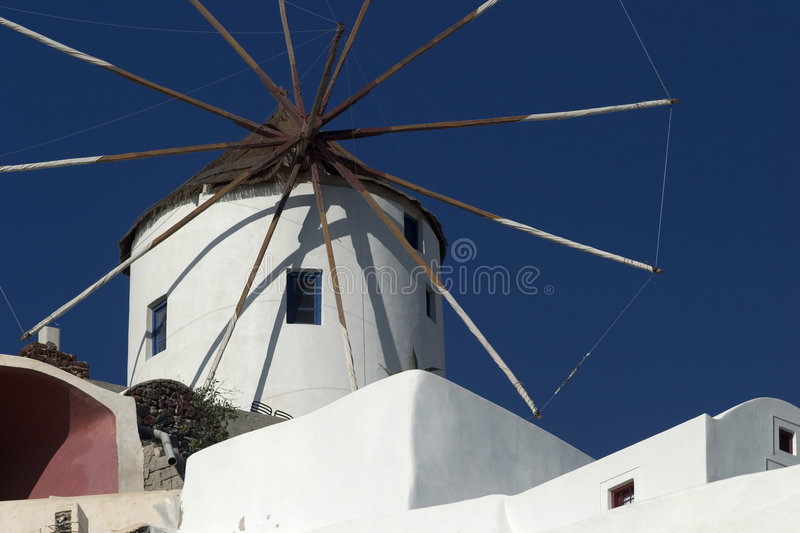 Typical scene from the Greek island of Santorini stock image
