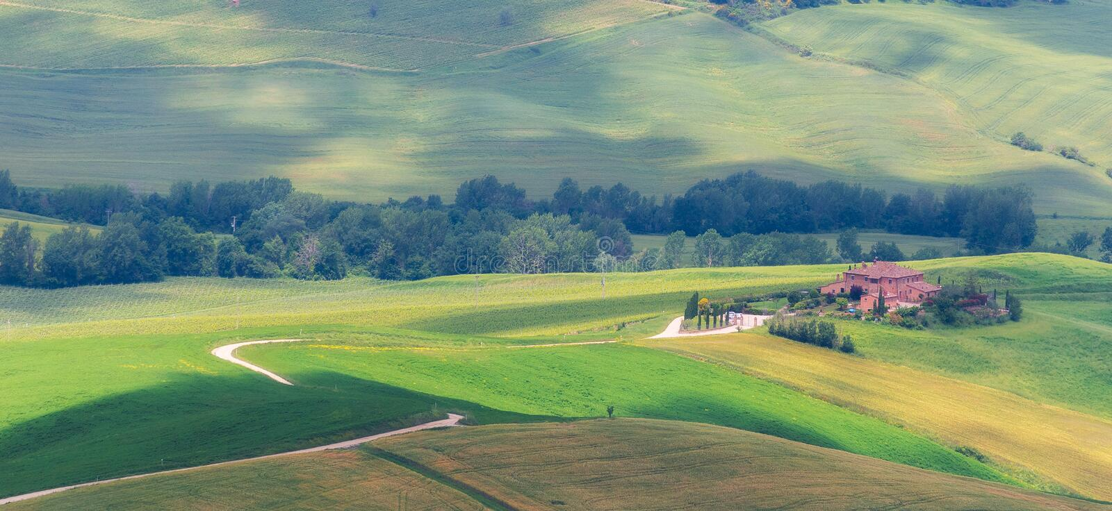 Typical scene of Tuscany, Italy. Typical scene of a landscape in the Tuscany, Italy stock image