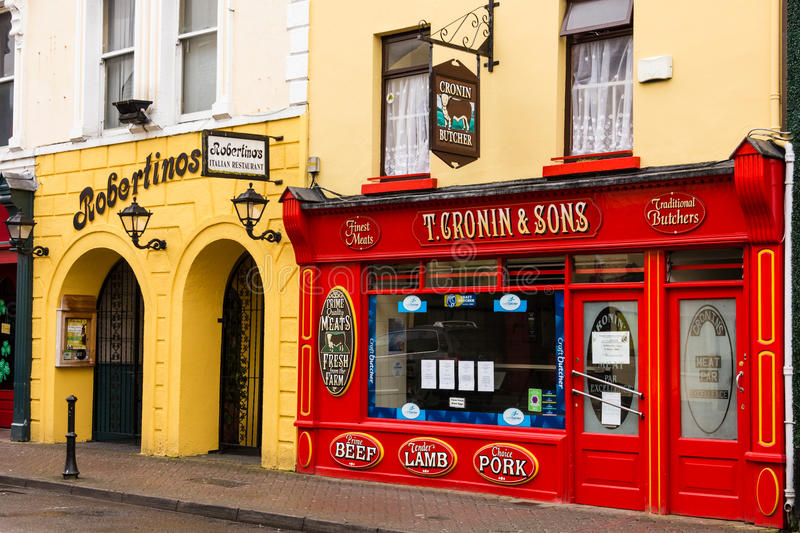 Traditional irish butcher. Killarney. Ireland stock photography