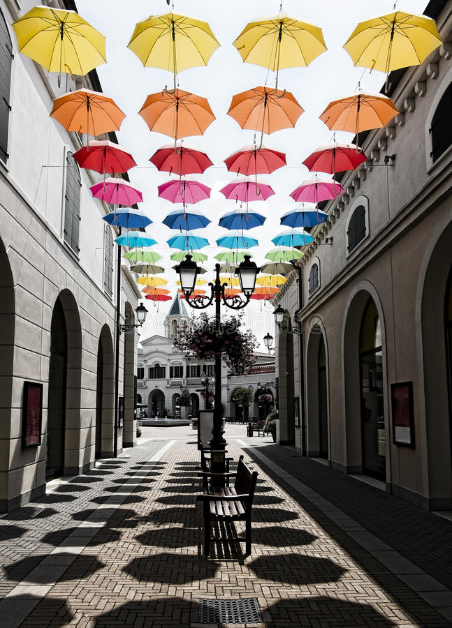 Download Typical shopping street stock photo. Image of saturation - 59717426