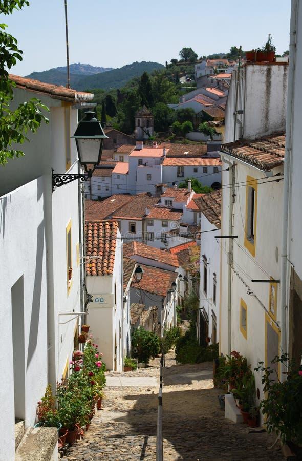 Typical Sinagoga Street in Castelo de Vide stock image