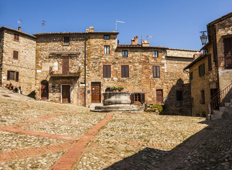 Ancient village Castiglione d'Orcia in Tuscany - Italy royalty free stock photography