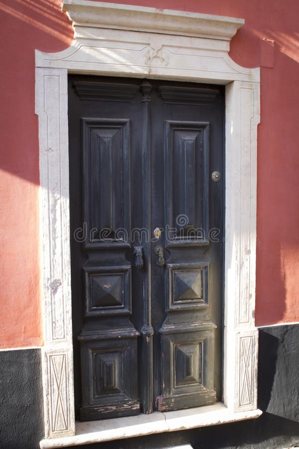 Typical south Portuguese door stock images