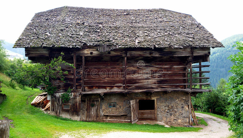 Typical South Tyrolean stable royalty free stock photos