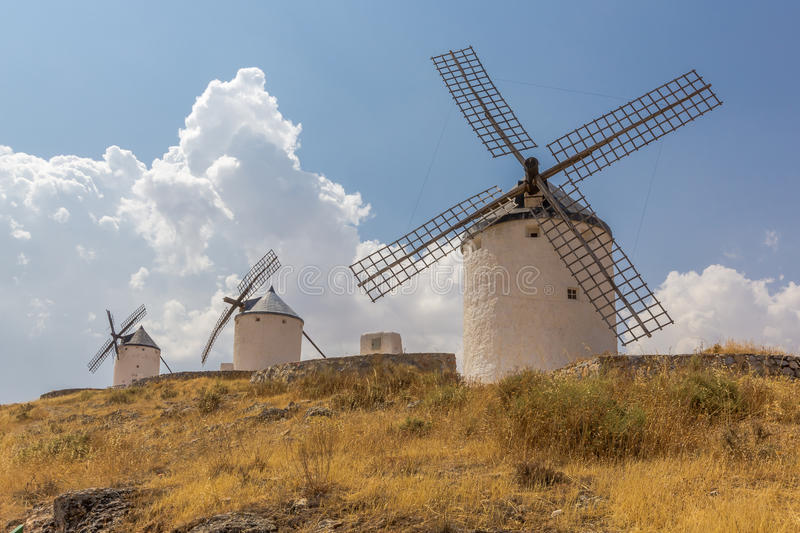 Typical Spanish windmill royalty free stock photo