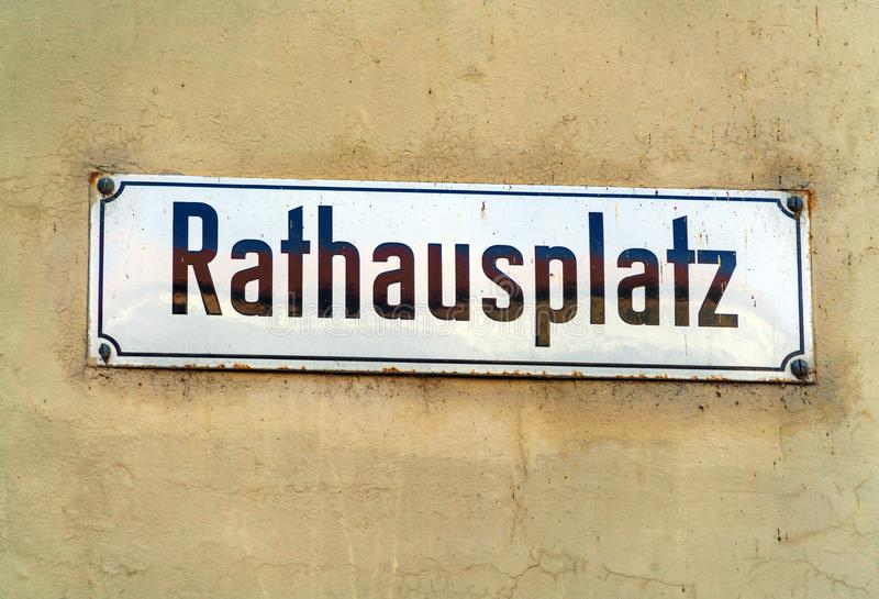 Typical street name signs in the old city, Bern, Switzerland. Typical street name signs in the old town, Bern, Switzerland royalty free stock image