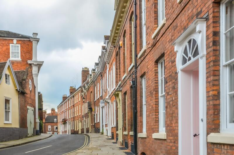 Typical Street in Shrewsbury Town royalty free stock photo