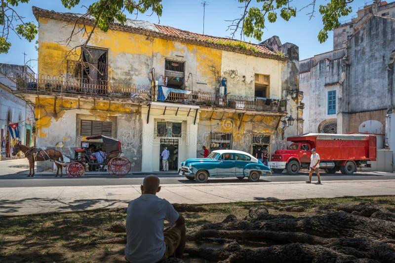 Typical street view in Havana Cuba stock photos
