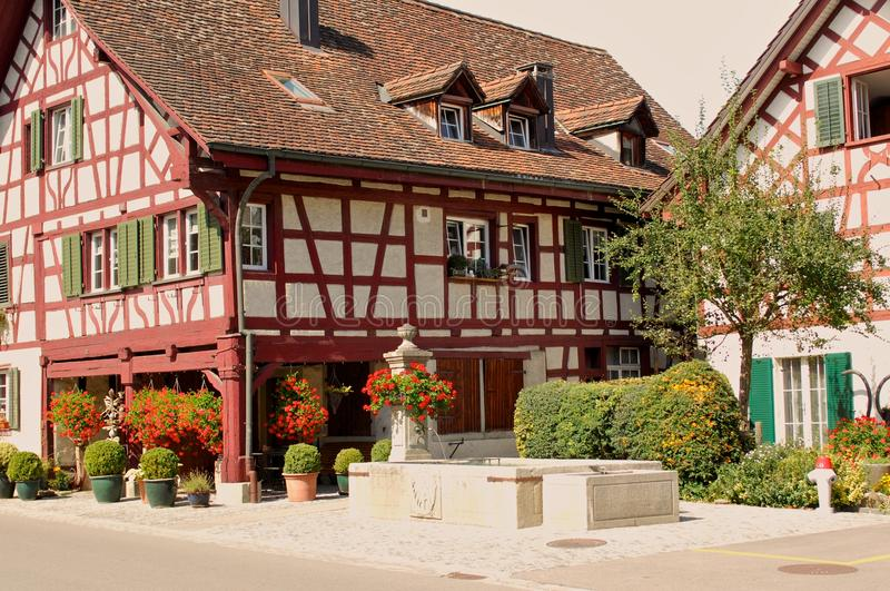 Typical Swiss Farm House stock photography