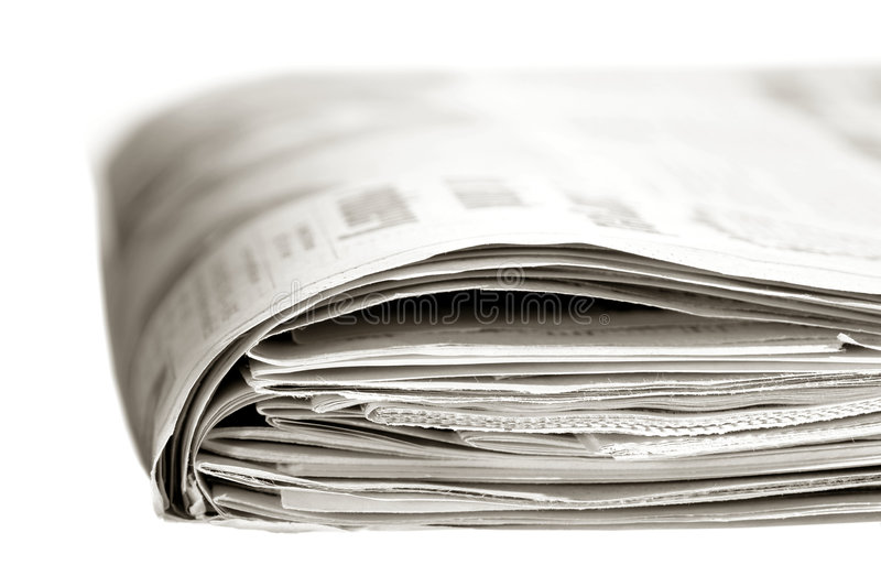 Typical Thick Sunday Edition American Newspaper royalty free stock photography
